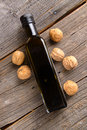 Walnut oil pure organi essential Royalty Free Stock Photo