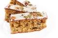 Walnut pie under a sweet glaze celebration good cheer christmas cakes Royalty Free Stock Photography