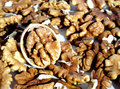 Walnut the is a very nutritious nuts food high in fat content Stock Photography