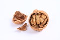 Walnut on the white background Stock Photo