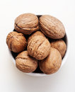 Walnut on a white background Royalty Free Stock Images