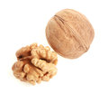 Walnut on a white background Royalty Free Stock Photo