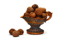 Walnuts in the bowl Royalty Free Stock Photos