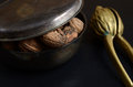 Walnuts in a bowl Royalty Free Stock Photo