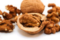 Walnuts brown shell nuts nut Royalty Free Stock Images