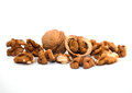 Walnuts brown shell nuts nut Stock Image
