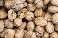 Walnuts a close up of a variety of Royalty Free Stock Photography
