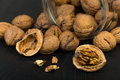 Walnuts closeup Royalty Free Stock Photo