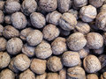 Walnuts crete greece market display of fresh chania Stock Photo