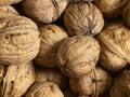 Walnuts a full frame walnut background Stock Photo