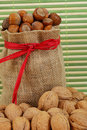 Walnuts and hazelnuts Royalty Free Stock Photography