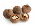 Walnuts isolated on white background Royalty Free Stock Photo