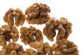 Walnuts Macro Isolated Stock Photography