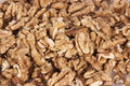 Walnuts pile of outside of their shells Stock Photo