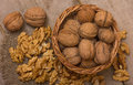 Walnuts Pile Royalty Free Stock Photo
