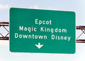 Walt disney world attractions orlando florida usa april a highway sign points the way to located in lake buena vista florida the Stock Photography