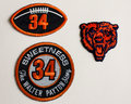 Walter payton tribute patches three created to pay to sweetness chicago bears hall of fame rb Royalty Free Stock Image