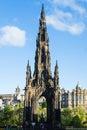 Walter scott monument in edinburgh on sunny day Stock Images