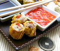 Wan tan some asian filled with pork meat and seafood Stock Photography