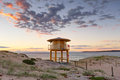 Wanda Beach Lookout Tower Royalty Free Stock Photo