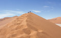 Wandelen namibië hoge duinen sossusvlei namibiê Stock Photography