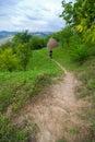 Wanderer in der Natur Lizenzfreies Stockfoto