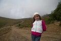Wandern von hood young girl Lizenzfreie Stockfotografie