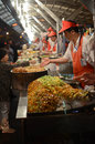 Wangfujing snack street in beijing food china Royalty Free Stock Images