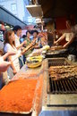Wangfujing snack street famous in beijing china Stock Photo