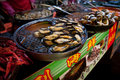 Wangfujing snack street seafood on food stall at in dongcheng district beijing china Stock Photos