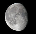Waning Gibbous Moon Royalty Free Stock Photo