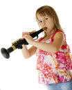 Wanna' Be Clarinet Player Stock Image