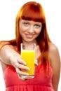 Wanna orange juice? Stock Image