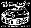 We Want Used Cars Royalty Free Stock Photo