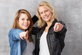 We want you - girls pointing with finger Royalty Free Stock Images