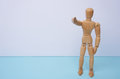 WE WANT YOU - Wooden mannequin, puppet, points his finger at you with copyspace. Can be used for business concept, hire Royalty Free Stock Photo