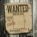 Wanted advertisement on the wooden background this illustration can be used for your design Stock Photos