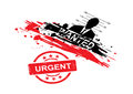 Wanted design with stamp urgent Stock Image
