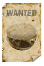 Wanted Hamburger Stock Photo