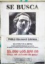 Wanted Pablo Escobar Royalty Free Stock Photo