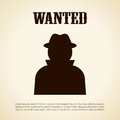 Wanted person vector clip art Royalty Free Stock Photography