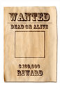 Wanted poster with reward Royalty Free Stock Photo