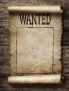 Wanted for reward poster Royalty Free Stock Photo