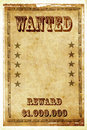 Wanted vintage poster Royalty Free Stock Photography
