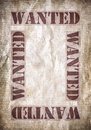 Wanted vintage poster dead or alive space for text Royalty Free Stock Photo