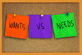 Wants vs Needs Royalty Free Stock Photo