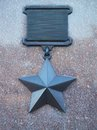 War achievement medal made from granite and bronze Royalty Free Stock Photos