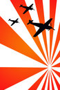 War airplanes Royalty Free Stock Photo