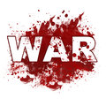 War bloody blot text in a red colour spatter Stock Photos
