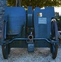 War cannon, Castello, Conegliano Veneto Royalty Free Stock Photo